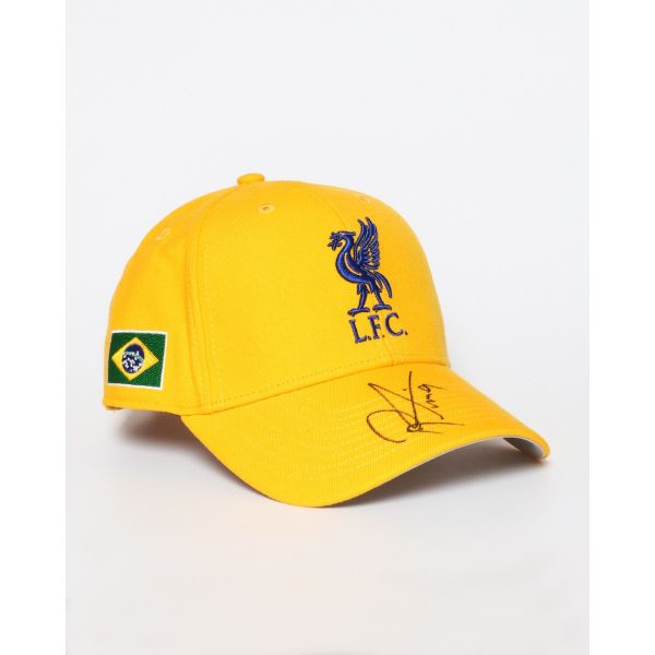 Clothing|Liverpool LFC Firmino Signed 47' MVP Brazil Flag Cap